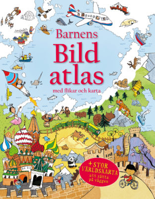 Book Cover: Barnens bildatlas med flikar och karta