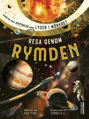 Book Cover: Resa genom rymden – med en affisch som lyser i mörkret