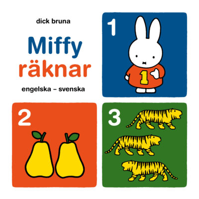 Book Cover: Miffy räknar – Engelska-svenska